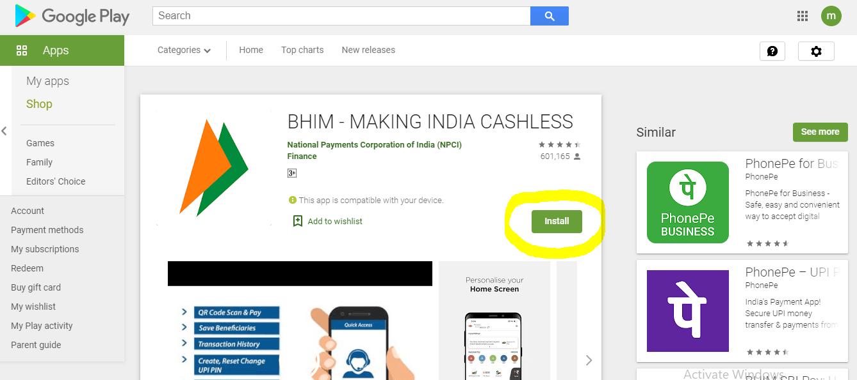 Download BHIM App