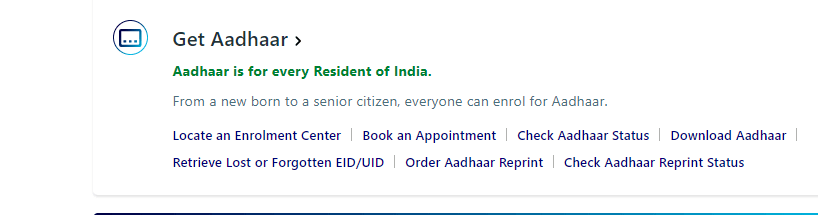 aadhar card online application form