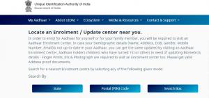 apply adhaar card online