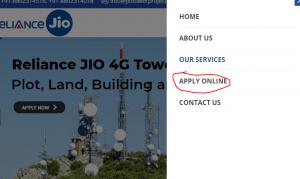 jio tower installation apply online