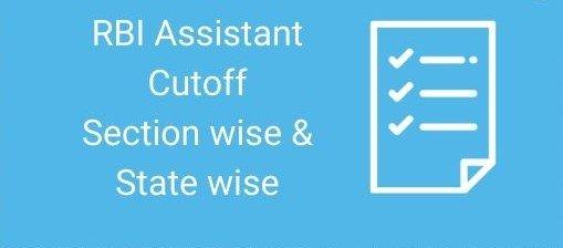 RBI Assistant 2020 cut off