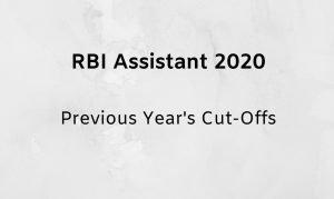 RBI Assistant cut off