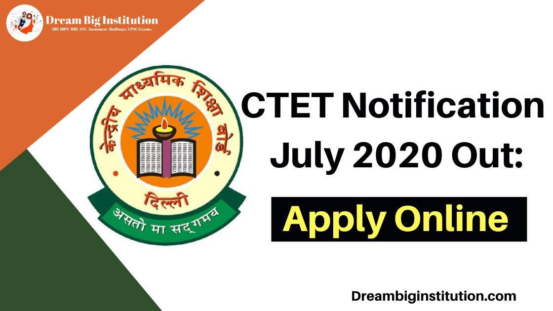 CTET online form 2020