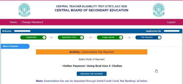 CTET 2020 Apply Online