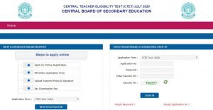 CTET Online Application
