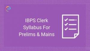 ibps clerk 2020 syllabus