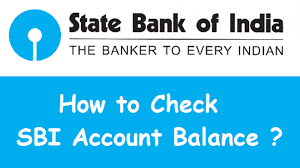 sbi balance check number