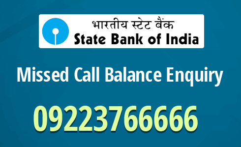 sbi account balance check by missed call number