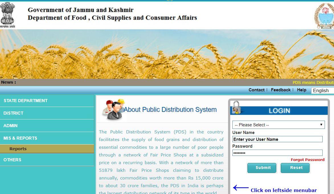 JK Ration Card List