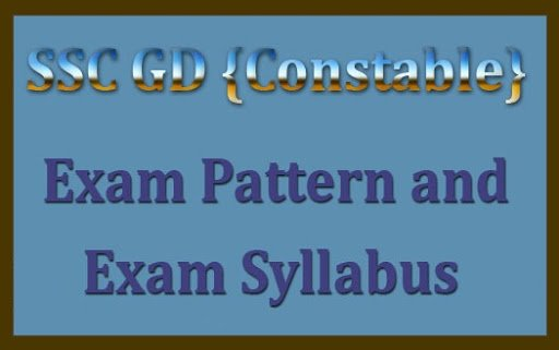 SSC GD 2020 Examination syllabus