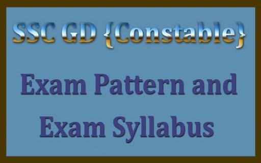 SSC GD 2020 Examination syllabus