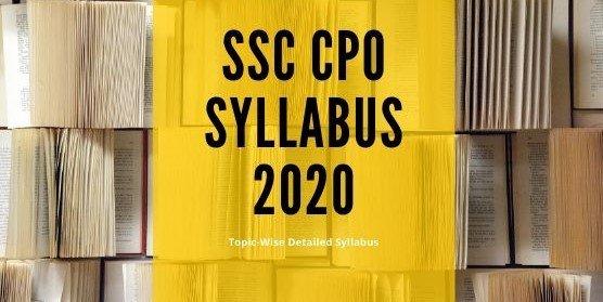 SSC CPO Syllabus