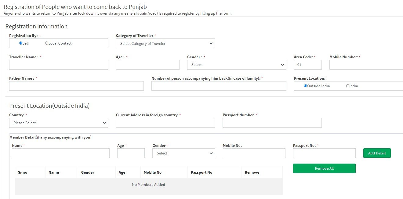 Punjab Migrant Worker Registration