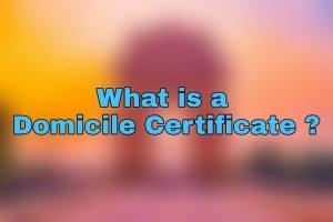 Domicile Certificate Registration