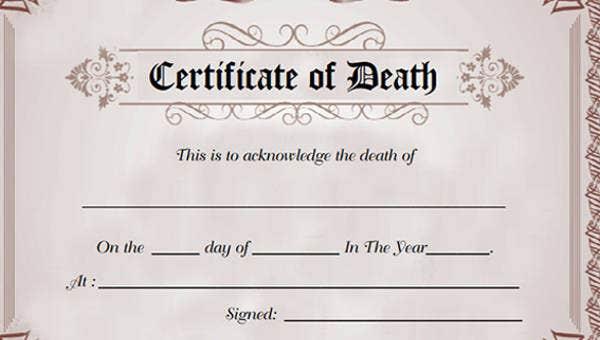 Death Certificate Status