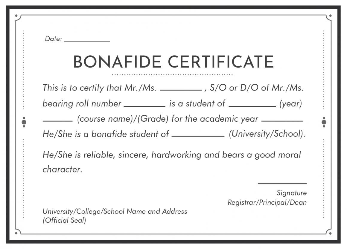 Bonafide Document