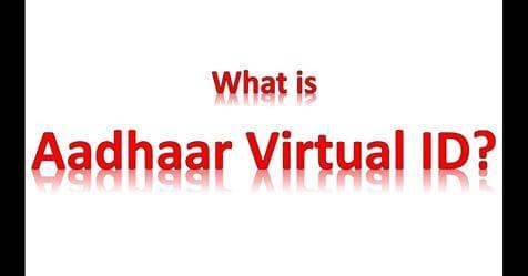Virtual ID for Aadhaar Card