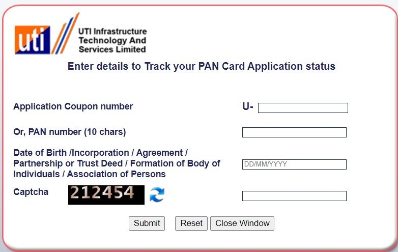 UTIITSL PAN Online