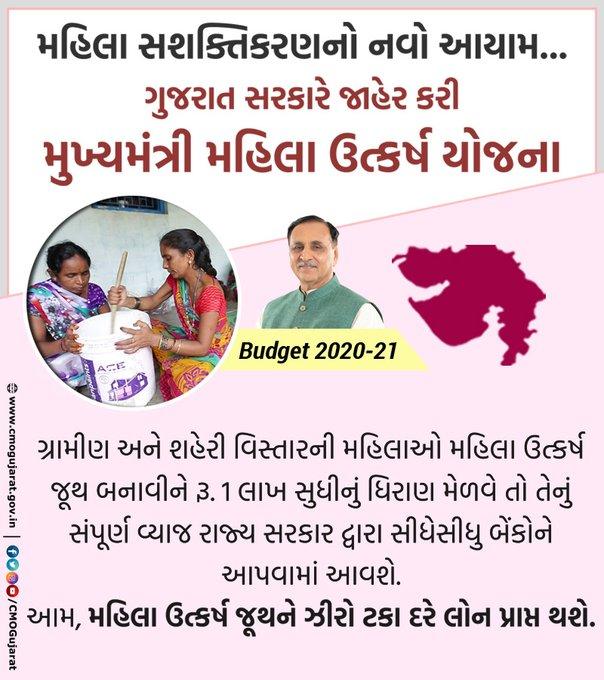 Gujarat Mukhyamantri Mahila Kalyan Yojana