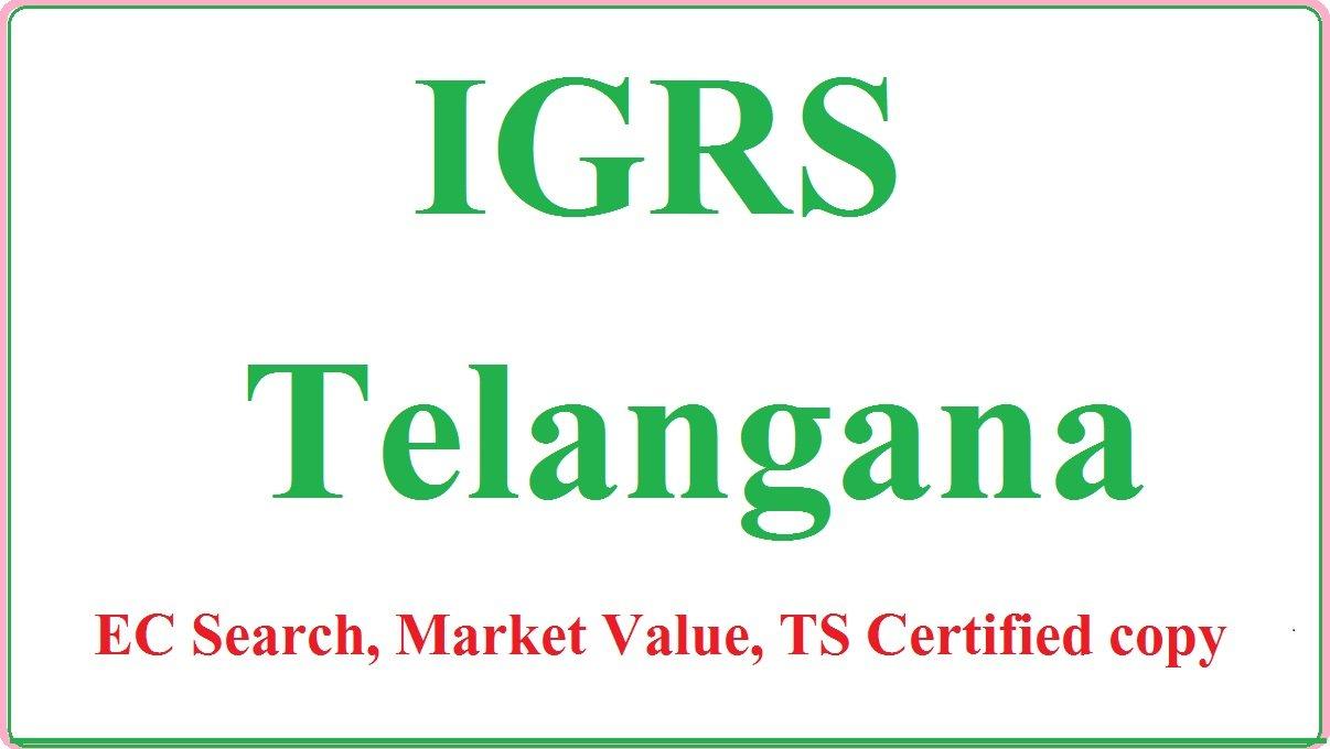 IGRS Telangana Encumbrance Certificate Registration