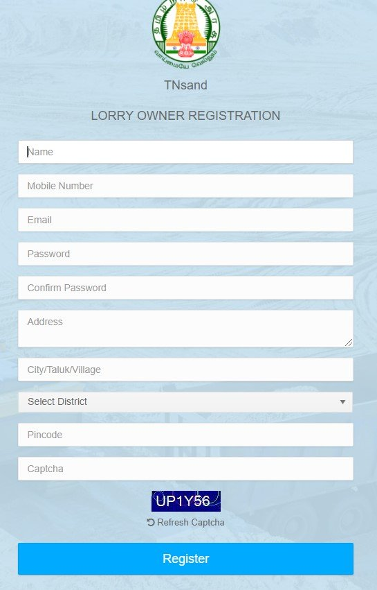Tamil Nadu Vehicle Registration