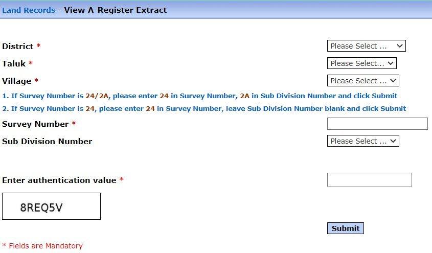 Tamil Nadu Register Extract