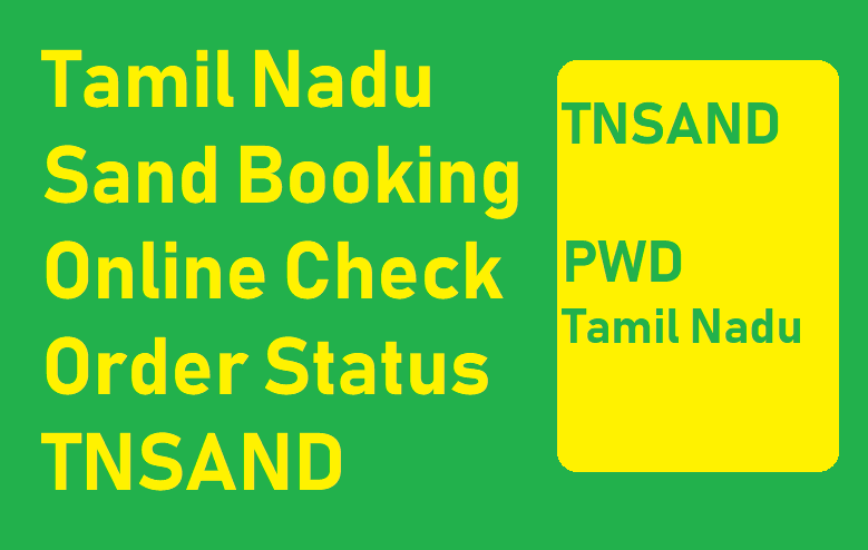 Tamil Nadu Sand Booking