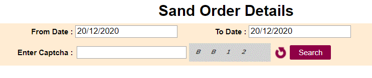 TS Sand Booking