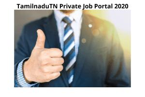 Tamil Nadu Private Job Portal 2020