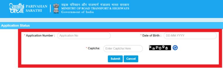 Sarathi Parivahan Online