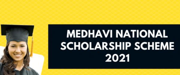 [Apply Online] Medhavi National Scholarship Scheme 2021