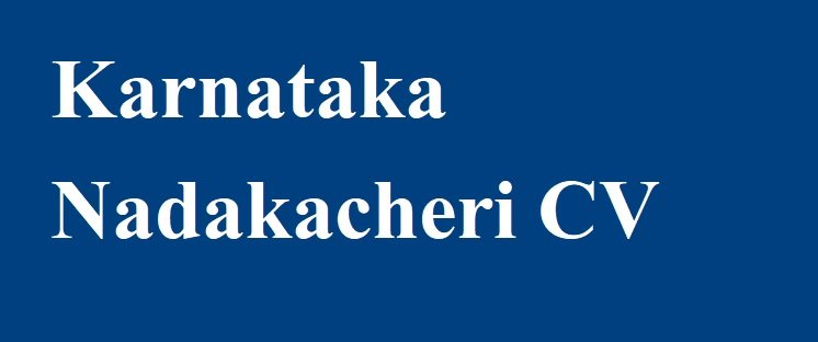 Karnataka Nadakacheri CV