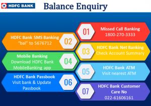 Check HDFC Bank Account Balance