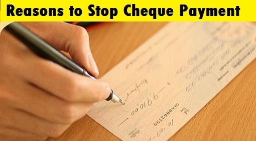 Stop Payment of Cheque