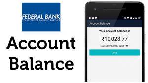 Check Federal Bank Account Balance