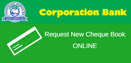 Check Book request in Corporation Bank