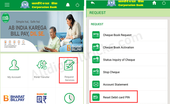Activate Corporation Bank ATM Card
