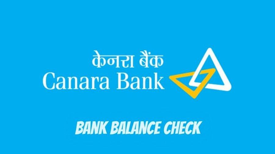Check Canara Bank Account Balance