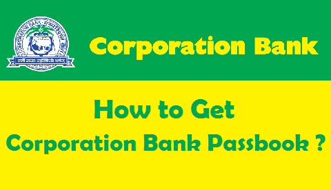 New Bank Passbook in Corporation Bank