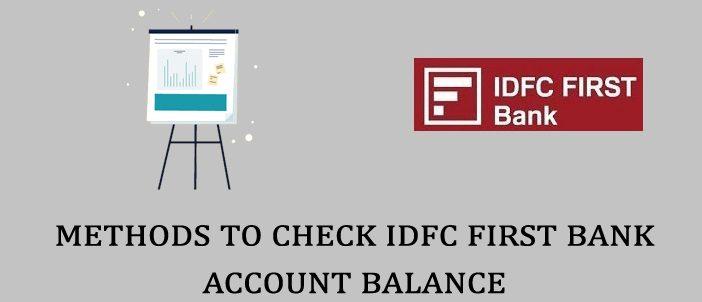 IDFC First Bank Balance Enquiry