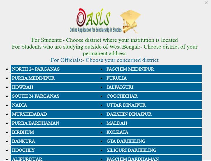 Oasis Scholarship Status