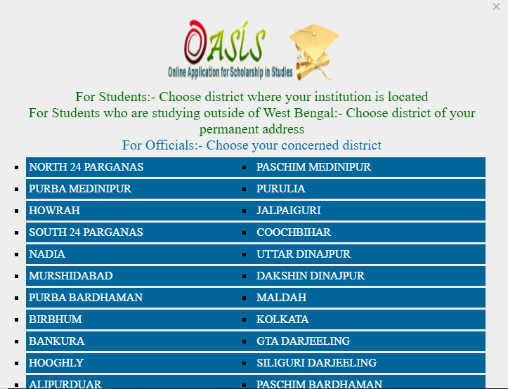 oasis gov in Student Login