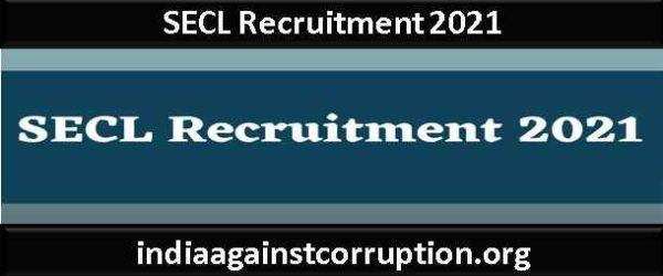 SECL Recruitment 2021 – Apply Online for 450 Graduate Apprentice & Technician Apprentice Post