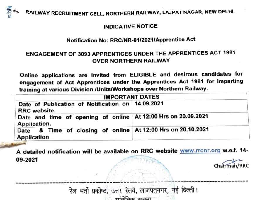 RRC Recruitment