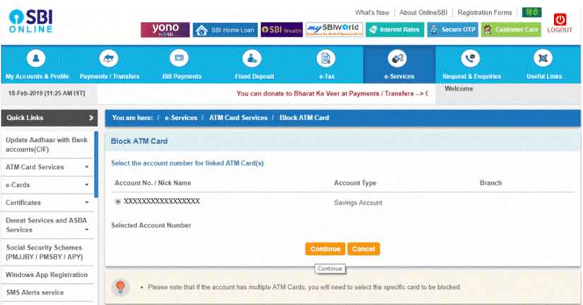 How To Block SBI ATM Card?