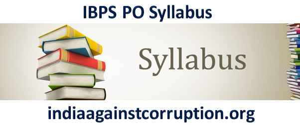 IBPS PO Syllabus 2021